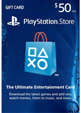 US $50 PLAYSTATION NETWORK Prepaid Card Karte PSN für PS3 PS4 PSP Key Code