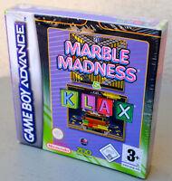 Jeux MARBLE MADNESS & KLAX sur Nintendo Game Boy Advance GBA NEUF sous blister