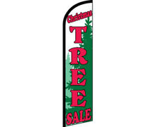 Christmas Tree Sale Red/White/Green Windless Banner Advertising Marketing Flag