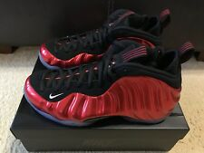 Nike Air Foamposite One Men's sz 9.5 VARSITY RED WHITE BLACK 314996 610 NIB