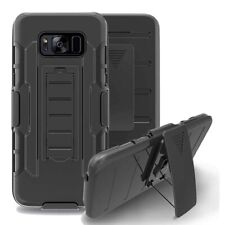 Shockproof Rugged Hybrid Armor Defender Box Belt Clip Holster Case for Samsung