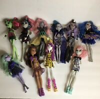 Lot (10) Monster High Doll Elle Eedee Boo, Freak Du Chic Circus Clawdeen Wolf