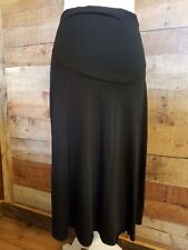 Womens Small Maternity Black Skirt Two Hearts