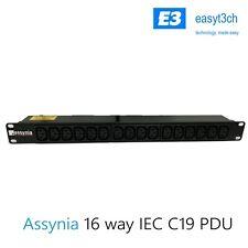 Assynia 16-Way Horizontal PDU Power Distribution Unit 3m Metre Cable C19
