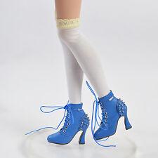 "Sherry Shoes Boots for BJD Delilah Noir Ellowyne Wilde 16""Tonner Doll Blue"