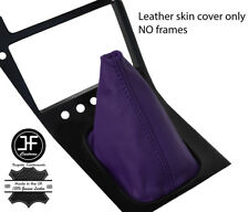 PURPLE TOP GRAIN REAL LEATHER GEAR GAITER FITS S13 240SX 200SX 180SX 1988-1993