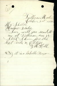 1890 Moscow Idaho (ID) Letter Mr. Shields G.H. Hill