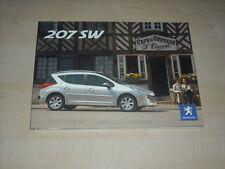 57238) Peugeot 207 SW Pressemappe 08/2007