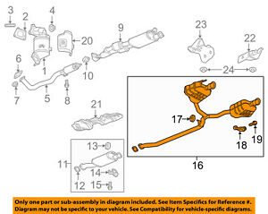 GM OEM Exhaust-Muffler W/tpipe Hanger Right 84160334