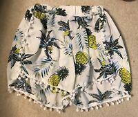 Shorts Womens Size Sz M L Short Women's Juniors Pineapple Tropical