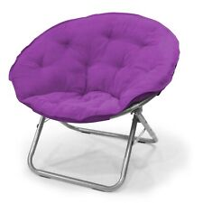 New ListingMainstays Large Microsuede Saucer Chair, Multiple Colors