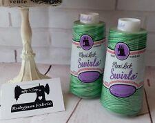 MINT JULEP Maxilock Swirls Decorative Overlocker Thread, variegated swirl