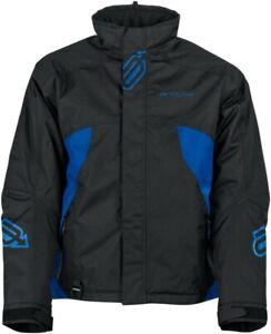 New Men's Arctiva S8 Pivot Jacket ~ Black/Blue~ Lg ~ # 3120-1746