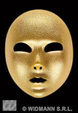 Gold Fabric Eye Mask Robot Masquerade Ball Halloween Theatrical  Fancy Dress
