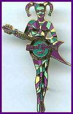 Hard Rock Cafe ORLANDO 2001 MARDI GRAS PIN Masked Jester with Guitar - HRC #6878