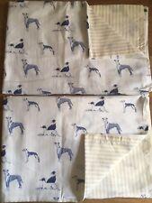Emily Bond Long Dog / Stripe 2 Standard Housewife Pillowcases Cotton New n
