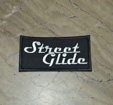 patch, écusson, street glide , noir et blanc, broder et thermocollant 10/5cm
