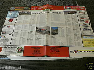 109 POSTER  HISTORIC RACING CALENDAR 1988 CLASSIC AND SPORTSCAR