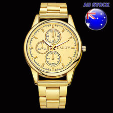 Gold Plated Dial And Case With Metal Bracelet Men's Chronograph Watch