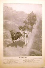 1898 STAGE COACH ROBBERY & SHOOTOUT ORIGINAL FREDRIC REMINGTON WESTERN PRINT
