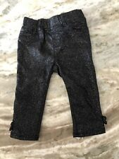 Baby Gap Girls Jeggings Black Sparkle Now Bottom Size 18-24 Months
