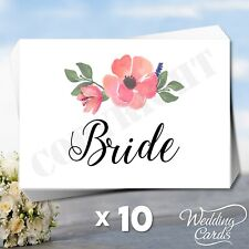 10 x Seating Place Cards Table Names Wedding Birthday Reserved for Party Name