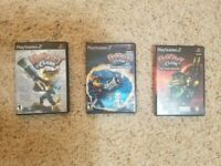 Ratchet And Clank PS2    *Lot Of 3     *All complete and in very good condition