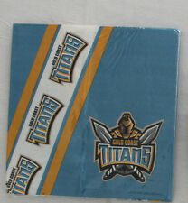 NRL LICENSED TITANS 24 PCS 2 PACKS PAPER SERVIETTES NAPKINS PARTY BIRTHDAY BBQ