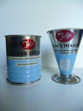 Retro 50s Vintage Style Blue Tala Originals Dry Measure cup & Flour Sifter