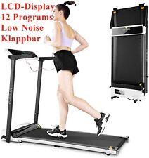 Laufband elektrisch Heimtrainer Fitnessgerät mit LCD Display Jogging klappbar DE