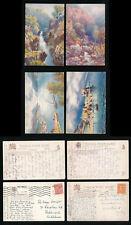 TUCKS OILETTE 7685 BONNIE SCOTLAND CALEDONIAN CANAL SERIES 1 USED 4 CARDS