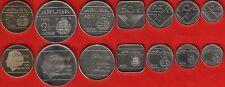 Aruba set of 7 coins: 5 cents - 5 florin 1986-2012 UNC