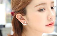 Women's Stud Earrings Cuffs Gold Filled River White Faux Freshwater Pearl UK