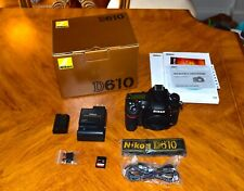 Nikon D610 24.3MP Digital SLR Camera - Black (Body Only) - Open Box - Bonus SD