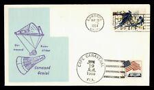 New listing 1964 EDWARDS CA SPACE GEMINI PARA GLIDER CACHET DUAL CANCEL
