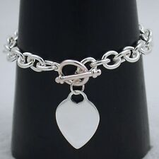 """17""""  SILVER EP HEART TOGGLE NECKLACE MUST SEE"""