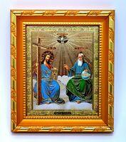 Ikone heilige Dreifaltigkeit geweiht икона Святая троица освящена 14,5x13x1,7 cm
