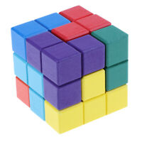 Wooden  Puzzle Box Cube Soma Cube 3D Brain Teaser Kids Educational Toy
