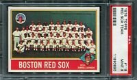 1976 Topps #118 Red Sox Team Card PSA 8 NM-MT