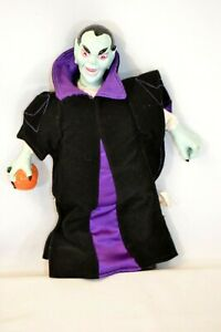 "Vtg. Halloween Vampire Count Dracula Doll Plush Toy Decoration Figure 13"""