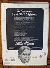 """Rare Little Alfred's """"I'm Dreaming Of A Black Christmas"""" Song Lyric Sheet - 1970"""