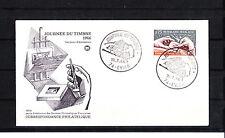 enveloppe 1er jour   journée du timbre  Evian       1966