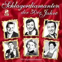 SCHLAGERDIAMANTEN DER 50ER JAHRE 2 CD NEU