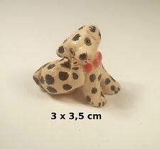 chien miniature en céramique ,collection, vitrine, hondje, dog   G-chiens-W31