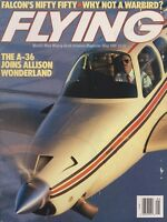 Flying Magazine (May 1988) (Allison A-36 Bonanza, Falcon 50, Beech Mentor)