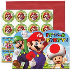 Super Mario Birthday Party Favors Invitations (8)