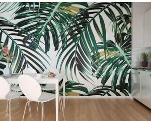 Oh Popsi Tropicalleaves 300 Cm X 240 Cm Wall Murial Wallpaper