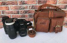 Vintage Italy Echtes Leder Kameratasche Braun Leather Camera Bag  Foto Tasche