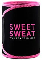 Sweet Sweat Premium Waist Trimmer for Men & Women by Sports Research - Pink - M