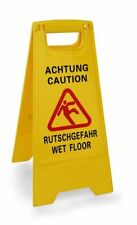 """Aufsteller """"Achtung Rutschgefahr"""" - """"Caution Wet Floor""""   Höhe: 63 cm"""